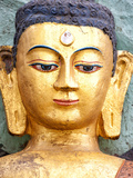 Golden Statue of Buddha Near Swayambhunath, Kathmandu, Nepal, Asia Photographic Print by Lee Frost
