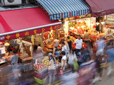Busy Market Street, Wan Chai, Central District, Hong Kong Island, Hong Kong, China, Asia Photographic Print by Gavin Hellier