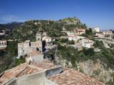 View over Village Used as Set for Filming the Godfather, Savoca, Sicily, Italy, Europe Photographic Print by Stuart Black