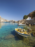 Agios Paulos Church and Fishing Boats, Rhodes, Dodecanese, Greek Islands, Greece, Europe Photographic Print by Sakis Papadopoulos