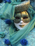 Masked Figure in Costume at the 2012 Carnival, Venice, Veneto, Italy, Europe Fotografie-Druck von Jochen Schlenker