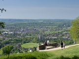 View of Dorking from Box Hill View Point, Surrey Hills, North Downs, Surrey, England, United Kingdo Photographic Print by John Miller