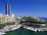 Portomaso Marina with Exclusive Apartments and Hilton Hotel, Paceville, St. Julian`S, Malta, Medite Photographic Print by Stuart Black