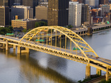 Pittsburgh Skyline and Fort Pitt Bridge over the Monongahela River, Pittsburgh, Pennsylvania, Unite Photographic Print by Richard Cummins