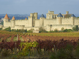 Medieval City of Carcassonne, UNESCO World Heritage Site, Aude, Languedoc-Roussillon, France, Europ Photographic Print by  Tuul