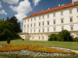 Baroque Valtice Castle with Floral Decoration in its Gardens, Valtice, Brnensko, Czech Republic, Eu Photographic Print by Richard Nebesky