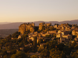 The Hill Top Village of Saignon at Sunset, Provence, France, Europe Photographic Print by Mark Chivers