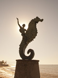 The Seahorse Sculpture on the Malecon, Puerto Vallarta, Jalisco, Mexico, North America Photographic Print by Michael DeFreitas