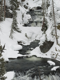 Snowy Stream in Yellowstone National Park, UNESCO World Heritage Site, Wyoming, United States of Am Photographic Print by Kimberly Walker
