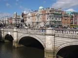 River Liffey and O'Connell Bridge, Dublin, Republic of Ireland, Europe Photographic Print by Hans-Peter Merten
