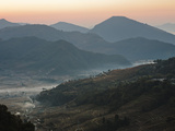 Farm Land, Pokhara Valley, Gandak, Nepal, Himalayas, Asia Photographic Print by Mark Chivers