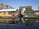 Colourful Boat Houses, Fisherman's Wharf, Victoria, Vancouver Island, British Columbia, Canada, Nor Photographic Print by Martin Child
