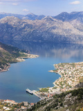 High View of the Fjord at Kotor Bay, Kotor, UNESCO World Heritage Site, Montenegro, Europe Photographic Print by Martin Child