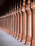 Red Sandstone Columns, Taj Mahal, UNESCO World Heritage Site, Agra, Uttar Pradesh State, India, Asi Photographic Print by Gavin Hellier