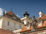 Detail of Baroque Valtice Castle, Valtice, Brnensko, Czech Republic, Europe Photographic Print by Richard Nebesky