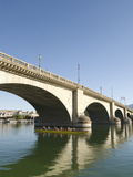 Paddlers Enjoying the Morning Beneath London Bridge, Havasu, Arizona, United States of America, Nor Photographic Print by Richard Maschmeyer