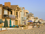 Oceanfront Homes in Newport Beach, Orange County, California, United States of America, North Ameri Photographic Print by Richard Cummins