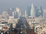 La Defense from the Arc De Triomphe, Paris, France, Europe Photographic Print by Martin Child
