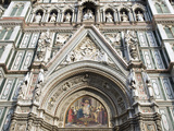 Facade of Cathedral Santa Maria Del Fiore (Duomo), UNESCO World Heritage Site, Florence, Tuscany, I Photographic Print by Nico Tondini