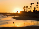 Sunset at Corona Del Mar Beach, Newport Beach, Orange County, California, United States of America, Photographic Print by Richard Cummins