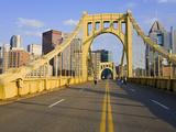 Roberto Clemente Bridge (6th Street Bridge) over the Allegheny River, Pittsburgh, Pennsylvania, Uni Photographic Print by Richard Cummins