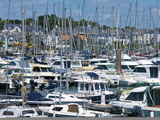 Yachts Moored in Harbour of Trinite Sur Mer, Morbihan, Brittany, France, Europe Photographic Print by Guy Thouvenin