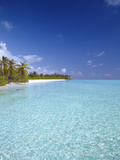 Tropical Beach and Lagoon, Maldives, Indian Ocean, Asia Photographic Print by Sakis Papadopoulos