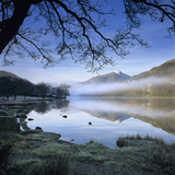 Mist over Llyn Gwynant and Snowdon, Snowdonia National Park, Conwy, Wales, United Kingdom, Europe Photographic Print by Stuart Black