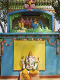 Hindu Temple to Elephant Headed Deity Ganesh and His Family Above, Shiva and Parvati with Sons Gane Photographic Print by Rob Francis