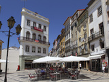 An Outdoor Cafe at the Largo De Portagem Public Square in Coimbra, Beira Litoral, Portugal, Europe Photographic Print by Stuart Forster