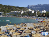 View over Beach, Port De Soller, Mallorca (Majorca), Balearic Islands, Spain, Mediterranean, Europe Photographic Print by Stuart Black