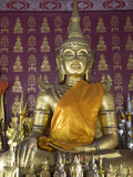 Buddha Statue in the Main Temple, Wat Saen, Luang Prabang, Laos, Indochina, Southeast Asia, Asia Photographic Print by Richard Maschmeyer