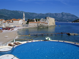 View over the Old Town, Budva, the Budva Riviera, Montenegro, Europe Photographic Print by Stuart Black