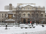 Teatro Alla Scala in Winter, Milan, Lombardy, Italy, Europe Photographic Print by Vincenzo Lombardo