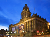 Leeds Town Hall at Dusk, Leeds, West Yorkshire, Yorkshire, England, United Kingdom, Europe Photographic Print by Mark Sunderland