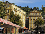 Place Charles Felix, Cours Saleya Market and Restaurant Area, Old Town, Nice, Alpes Maritimes, Prov Photographic Print by Peter Richardson