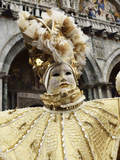 Masked Figure in Costume at the 2012 Carnival, Venice, Veneto, Italy, Europe Photographic Print by Jochen Schlenker