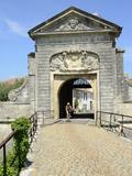 Entrance to Town, St. Martin De Re, Ile De Re, Charente-Maritime, Poitou-Charentes, France, Europe Fotoprint van Peter Groenendijk