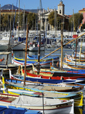 Colourful Boats in Port Lympia, Quartier Du Port, Nice, Alpes Maritimes, Provence, Cote D'Azur, Fre Photographic Print by Peter Richardson