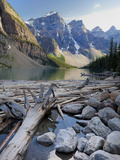 Log Jam on Moraine Lake, Banff National Park, UNESCO World Heritage Site, Alberta, Rocky Mountains, Photographic Print by Martin Child