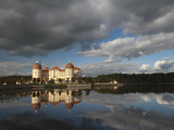 Baroque Moritzburg Castle and Reflections in Lake, Moritzburg, Sachsen, Germany, Europe Photographic Print by Richard Nebesky