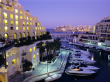 Portomaso Marina at Dusk with Hilton Hotel, Paceville, St. Julian`S, Malta, Mediterranean, Europe Photographic Print by Stuart Black