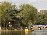 Boating in Green Lake Park, Kunming, Yunnan, China, Asia Photographic Print by Rolf Richardson