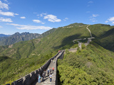 Tourists Walking on the Great Wall of China, UNESCO World Heritage Site, Mutianyu, Beijing District Photographic Print by Neale Clark