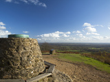 View South from Cairn at the Top of Holmbury Hill, Surrey Hills, Surrey, England, United Kingdom, E Photographic Print by John Miller