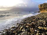 Waves Breaking on the Rocky Foreshore at Elgol, Isle of Skye, Inner Hebrides, Scotland, United King Photographic Print by Peter Richardson