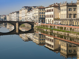 Ponte Alla Carraia and Lungarno Corsini Reflected in the River Arno, Florence, UNESCO World Heritag Photographic Print by Nico Tondini