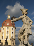 Baroque Statue at Moritzburg Castle, Moritzburg, Sachsen, Germany, Europe Photographic Print by Richard Nebesky