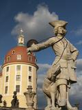 Baroque Statue at Moritzburg Castle, Moritzburg, Sachsen, Germany, Europe Photographic Print by Richard Nebesky