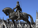 Nuno Alvares Pereira Statue, Battle of Ajubarrota Victor in 1385, at Batalha Abbey, UNESCO World He Photographic Print by Stuart Forster